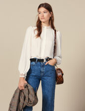 Camicia fluida in crêpe : FBlackFriday-FR-FSelection-Tops&Chemises colore Ecru