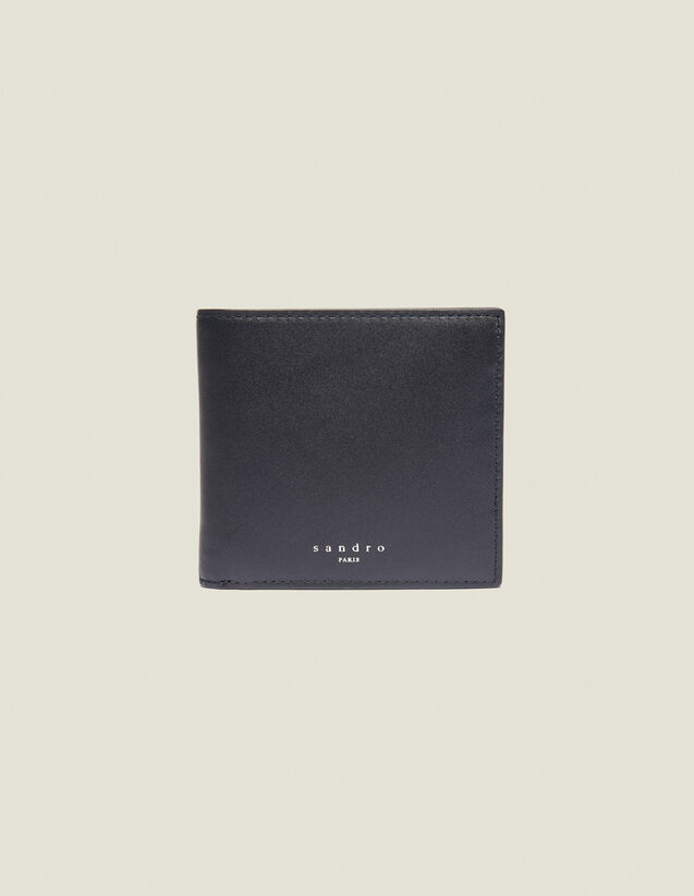 Portafoglio A Libro In Pelle Liscia : Collezione Estiva colore Nero