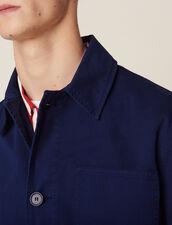 Giacca Da Lavoro In Cotone Délavé : Giubbotti & Giacche colore Blu