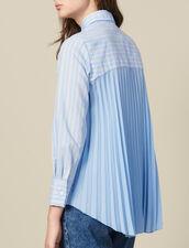 Camicia Asimmetrica Inserto Plissettato : LastChance-ES-F50 colore Ciel