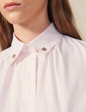 Chemise À Boutons Bijoux Au Col : Tops & Chemises couleur Rose