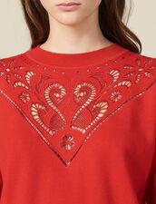 Pullover A Collo Alto Con Pettino : FBlackFriday-FR-FSelection-Pulls&Cardigans colore Rosso