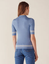 Pullover Stile Polo : null colore Blue jeans