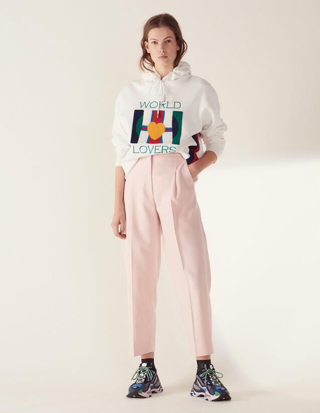 Pantaloni Da Tailleur 7/8 Coordinati : null colore Rosa