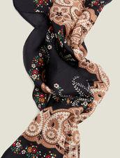 Foulard in seta stampa bandana nera : Sciarpe colore Nero