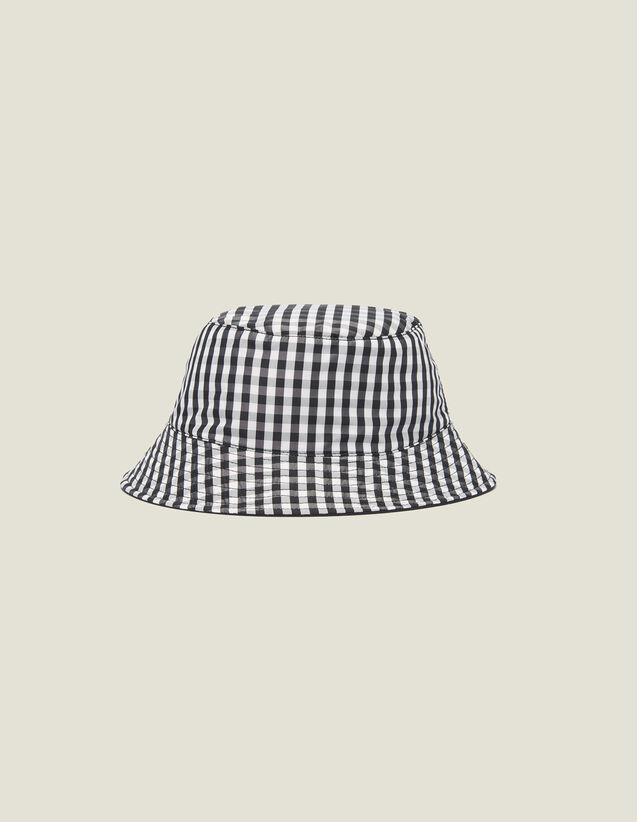 Cappello Reversibile In Cotone : Berretti colore Nero/Bianco