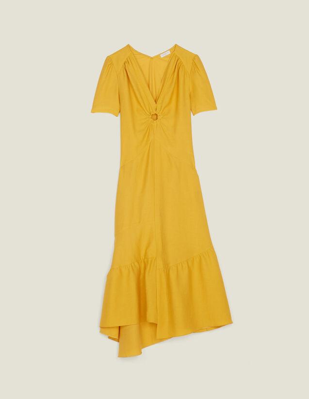 Robe Longue Ornée D Un Anneau Recouvert : LastChance-FR-FSelection couleur Bleu jean