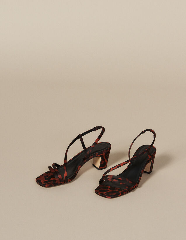 Sandali in tessuto con stampa leopardo : FBlackFriday-FR-Selection-Chaussures colore Leopard orange