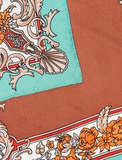 Foulard In Seta Con Stampa Barocca : Sciarpe colore Verde Acqua