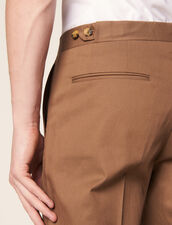 Pantaloni Chino Aderenti : SOLDES-CH-HSelection-PAP&ACCESS-2DEM colore Blu Marino
