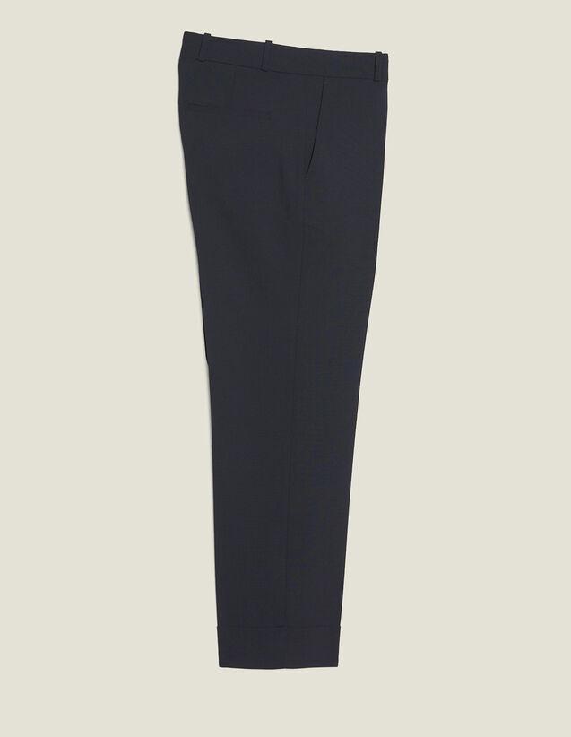 Pantaloni Carrot Con Risvolto : Sélection Last Chance colore Blu Marino