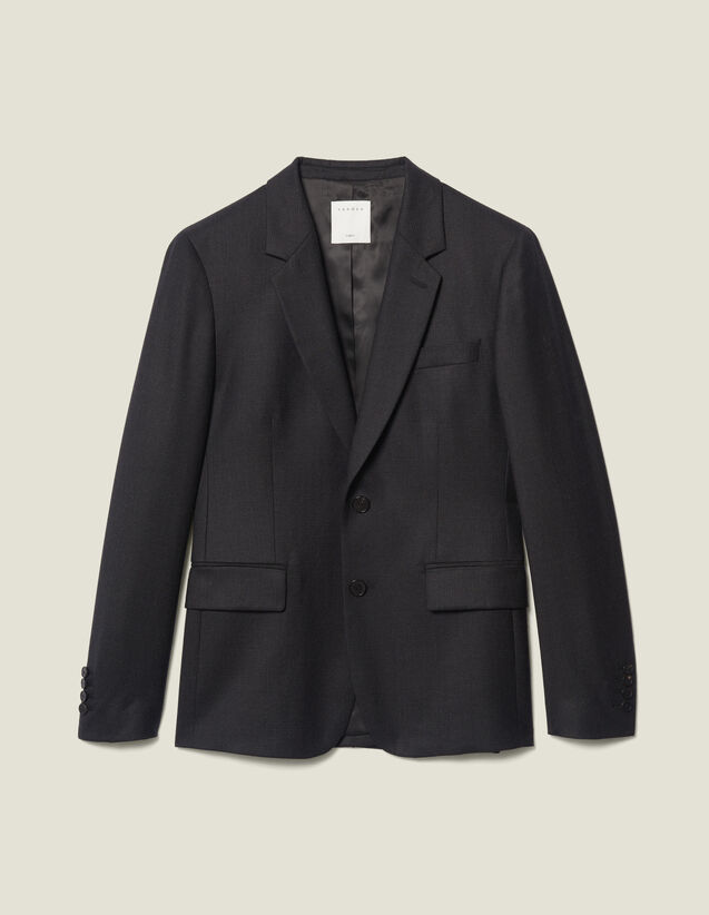 Giacca da completo in lana : Abiti & Smoking colore Antracite