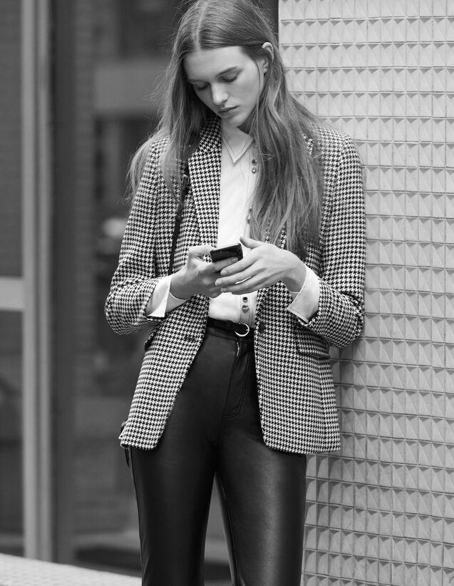 Giacca da tailleur in pied de poule : Tutti l'Abbigliamento colore Nero
