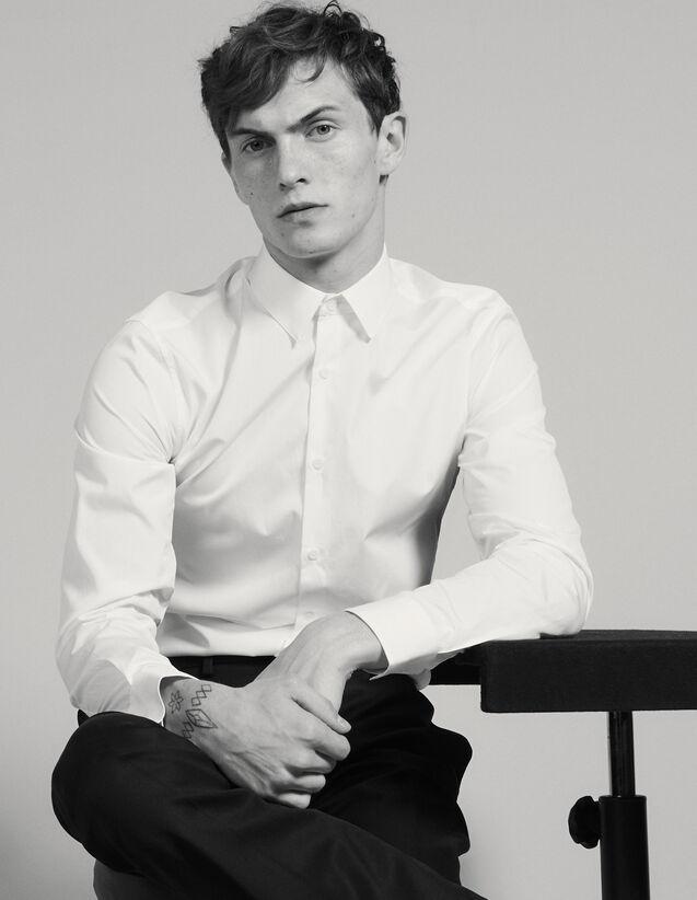 Camicia In Cotone : Camicie colore Bianco