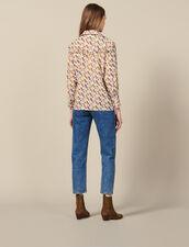 Camicia Stampata Con Volant : LastChance-ES-F50 colore Ecru