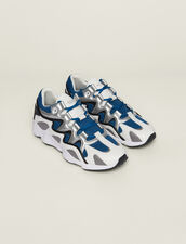 Sneaker Mix Di Materiali : SOLDES-CH-HSelection-PAP&ACCESS-2DEM colore Blu