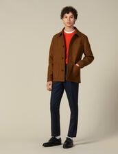 Giacca in panno di lana : Giubbotti & Giacche colore Cammello