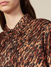 Camicia Stampata In Twill Di Seta : Tutti le Confezione colore Brown