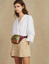 Combishort Bimateriale Con Camicia : null colore Beige