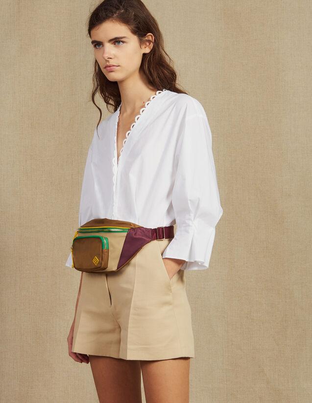 Combishort Bimateriale Con Camicia : Tute colore Beige