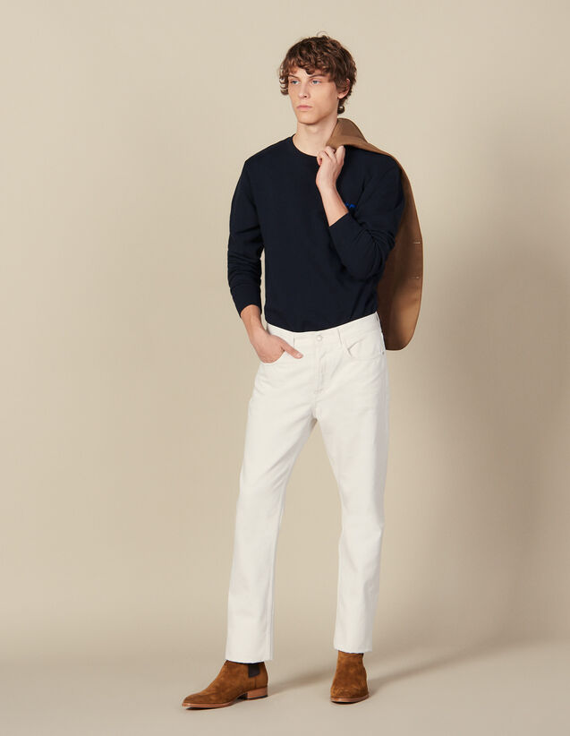Jean Slim En Coton : HCollectionHiver couleur blanc