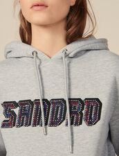 Sweat avec inscription Sandro : FBlackFriday-FR-FSelection-30 couleur Gris