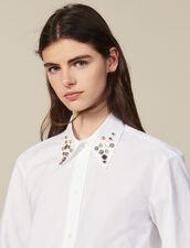Camicia Asimmetrica Ornata Da Borchie : Tutti le Confezione colore Bianco