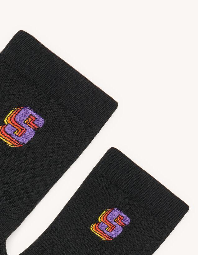 Chaussettes avec logo : Chaussettes couleur Noir