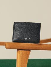 Porta Carte In Pelle A Grana : Collezione Inverno colore Nero