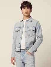 Giubbotto In Denim : Sélection Last Chance colore Stone Washed - Denim