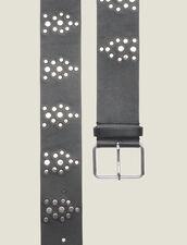 Cintura Nera Con Borchie : Cinture colore Nero