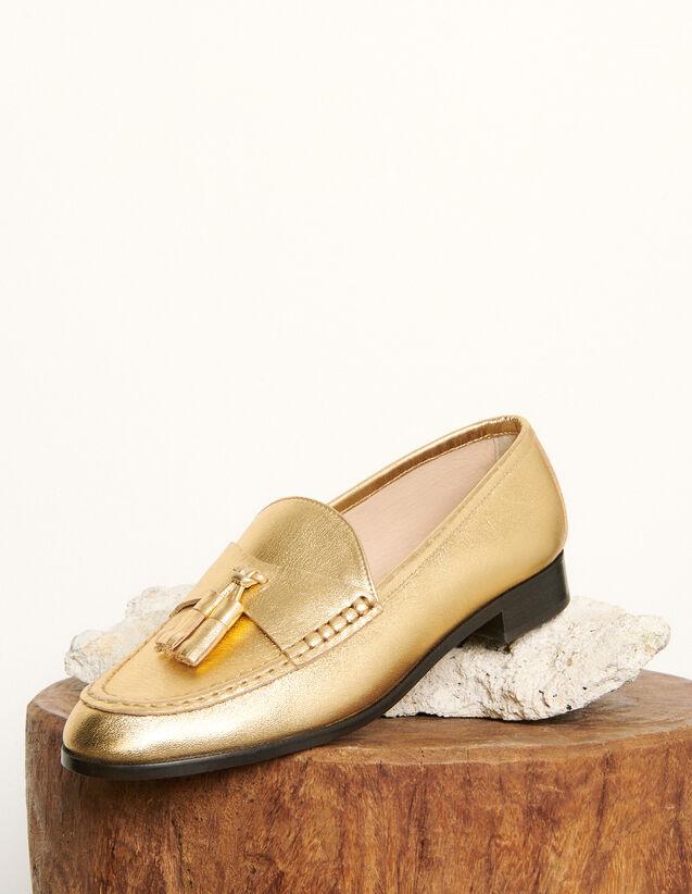 Mocassini in pelle metallizzata : Tutte le Scarpe colore Oro