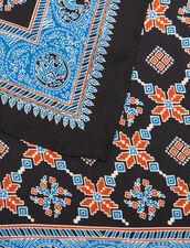 Foulard In Seta Stampata : Tutti gli Accessori colore Blu