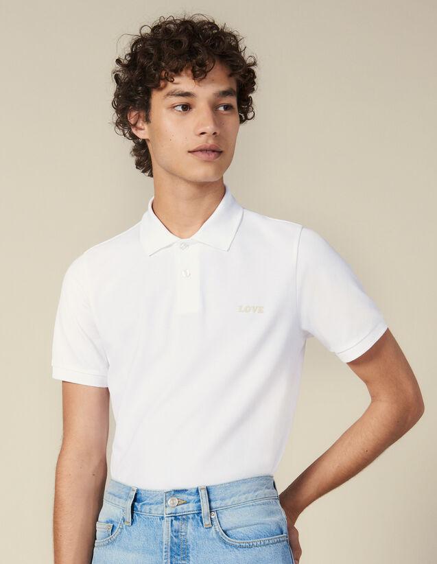 Polo In Cotone Con Scritta : L'intera collezione Invernale colore Bianco