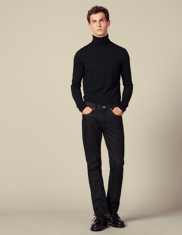 Jeans Grezzi Slim : Jeans colore Black - Denim