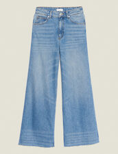 Jeans Larghi : null colore Blue Vintage - Denim