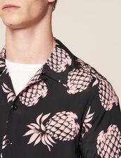 Camicia Con Stampa Hawaiana : Camicie colore Nero