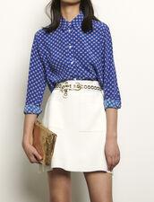 Camicia in seta stampata : Top & Camicie colore Blu