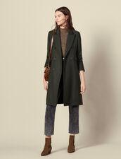 Cappotto lungo in lana : Cappotti colore Cachi