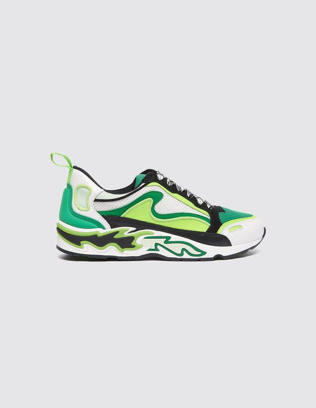 Sneaker Con Fiamme Sulla Suola : Tutte le Scarpe colore Vert fluo