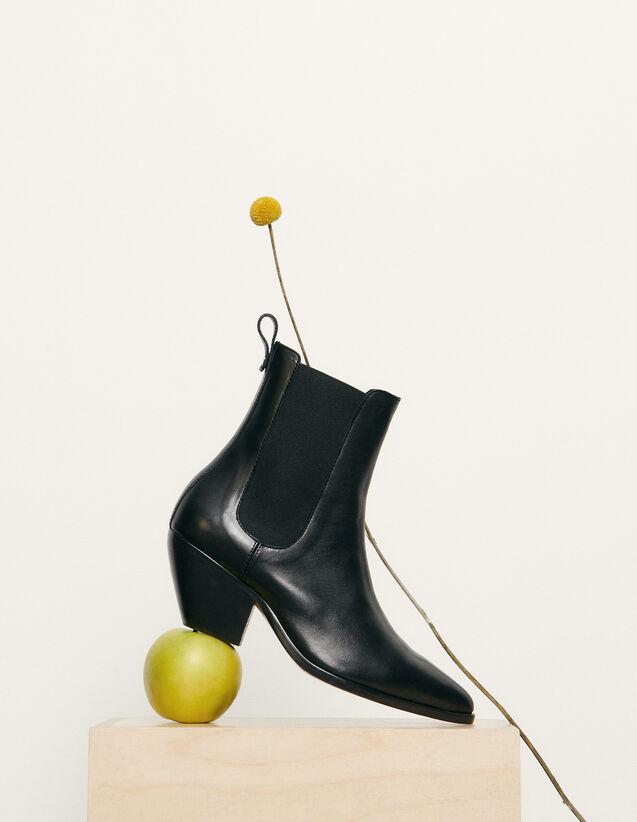 Stivali stile texano con elastico : Tutte le Scarpe colore Nero