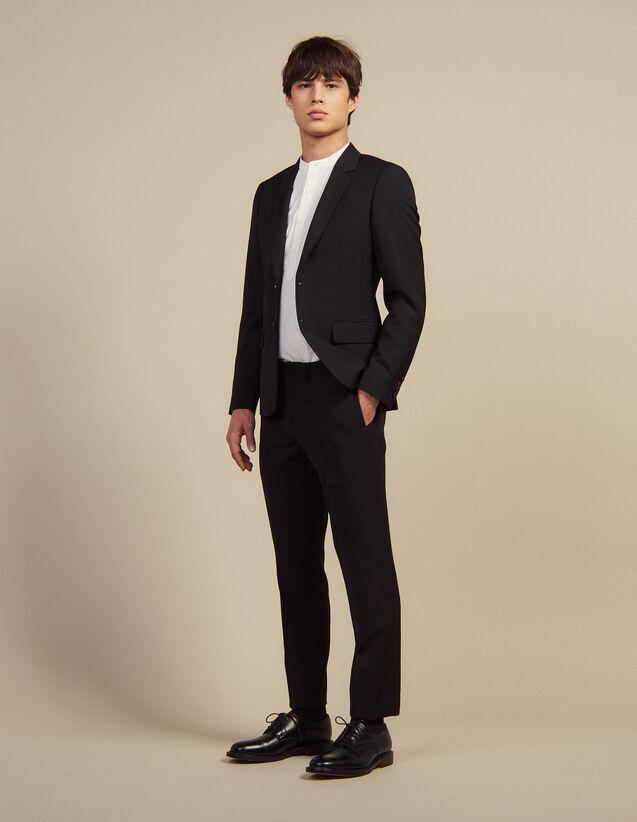 Pantaloni Da Completo In Lana : Abiti & Smoking colore Nero