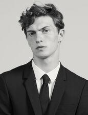 Cravate Classique En Twill De Soie : Cravates & Noeuds Papillon couleur Noir