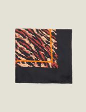 Foulard In Seta Stampata : Sciarpe colore Nero