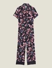 Tuta Pantalone Con Stampa Floreale : null colore Nero