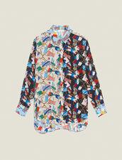 Camicia Con Stampa Bandiera All-Over : null colore Multicolore