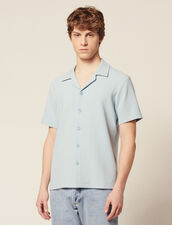 Camicia In Jersey A Righe : Sélection Last Chance colore Sky Blue