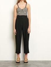 Pantaloni a vita alta con cintura : Pantaloni colore Nero