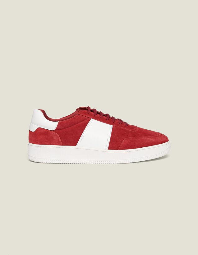 Sneaker In Pelle : Scarpe colore Rosso