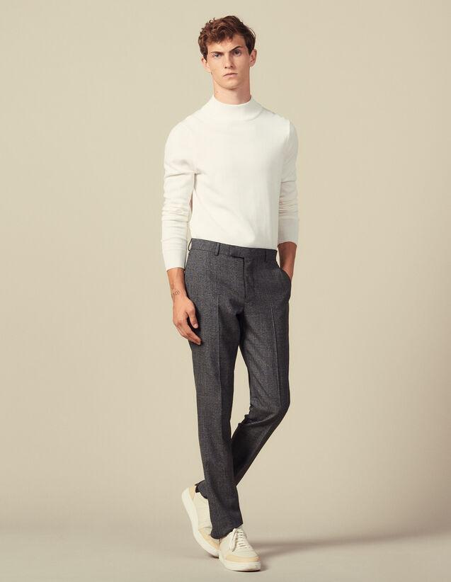 Pantaloni Da Completo In Lana Chiné : Abiti & Smoking colore Grigio Screziato